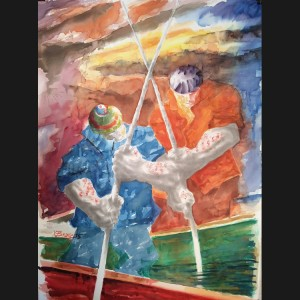 14 Pintura mariscador